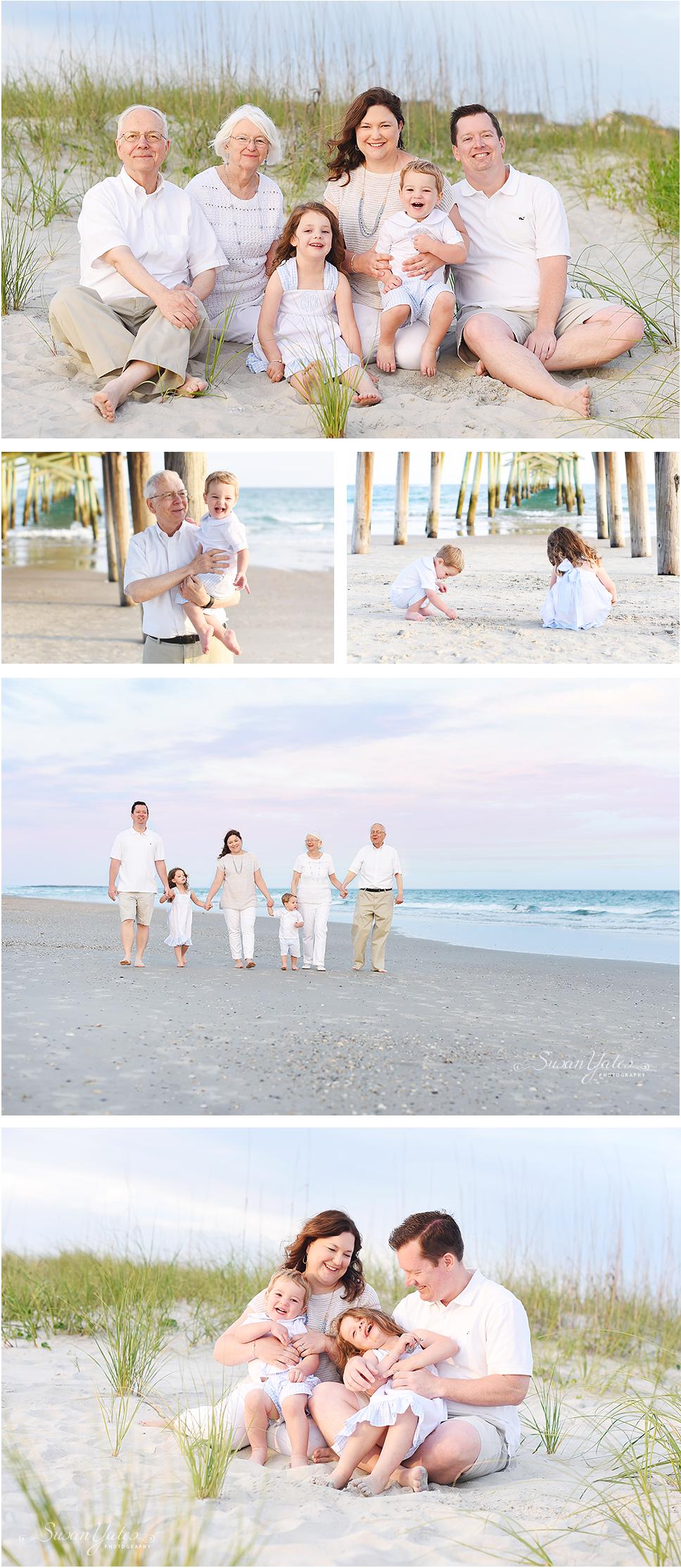 Family photo session on the Crystal Coast NC