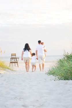 Family photo at the beach