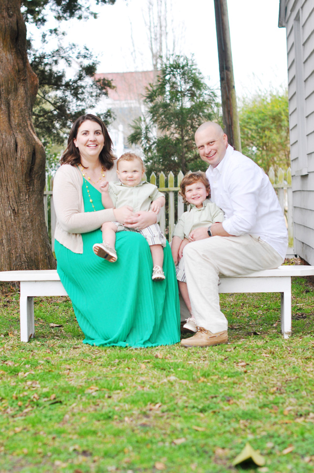 Family photo at Beaufort Historic
