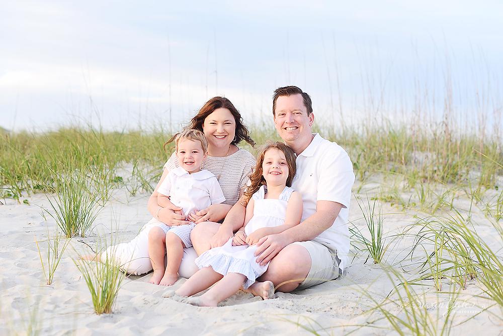 family portrait in Atlantic Beach, NC