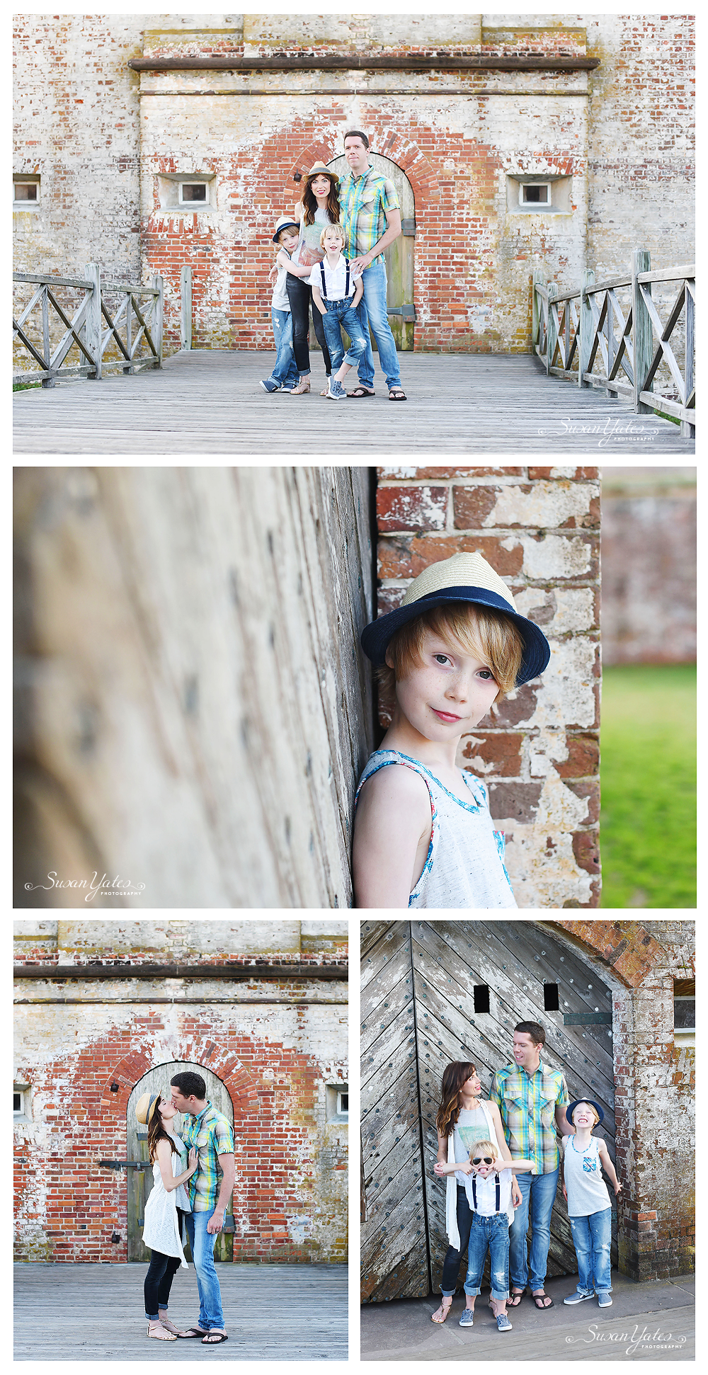 family photos at fort macon state park