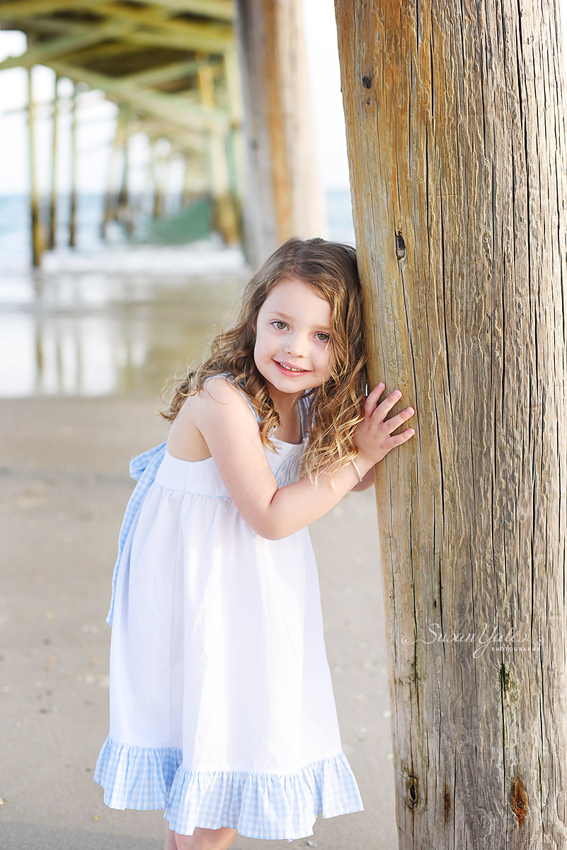 portrait at Oceanana Pier in Atlantic Beach, NC