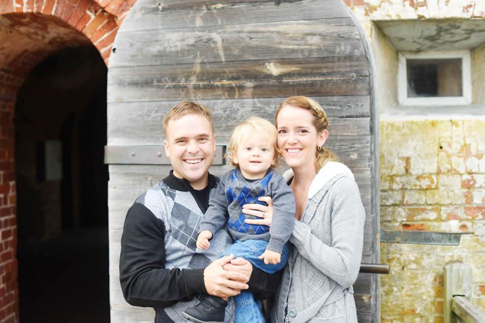 Family portrait photographer Fort Macon, NC