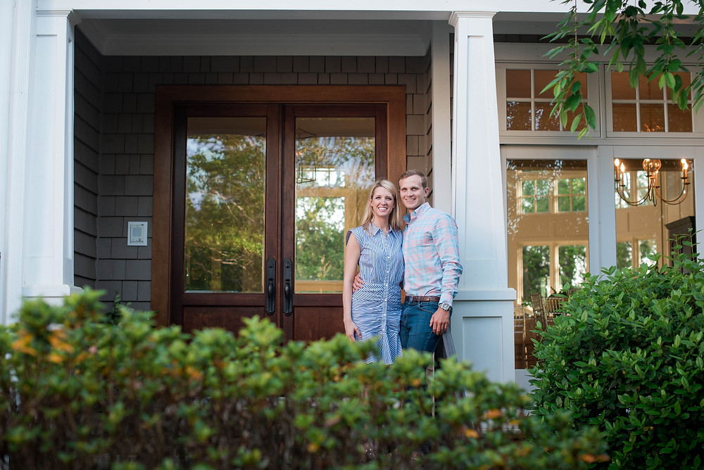 engagement photo session at home on the Crystal Coast