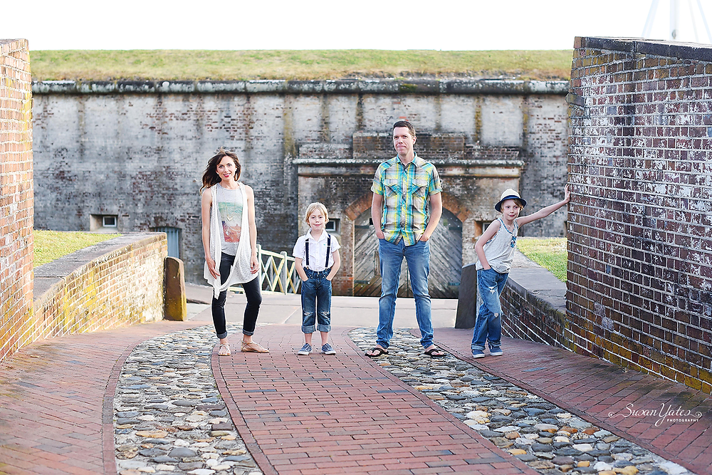 styled photo session at fort macon state park in atlantic beach, nc
