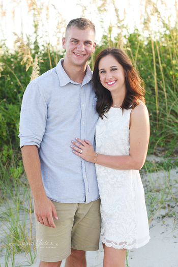 She said YES! | Atlantic Beach Engagement Session Sneak Peek
