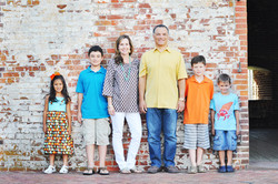 family photos at Fort Macon State