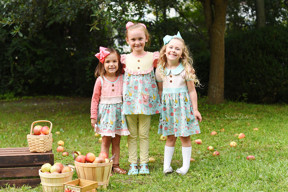 Children's boutique clothing photo session in North Carolina