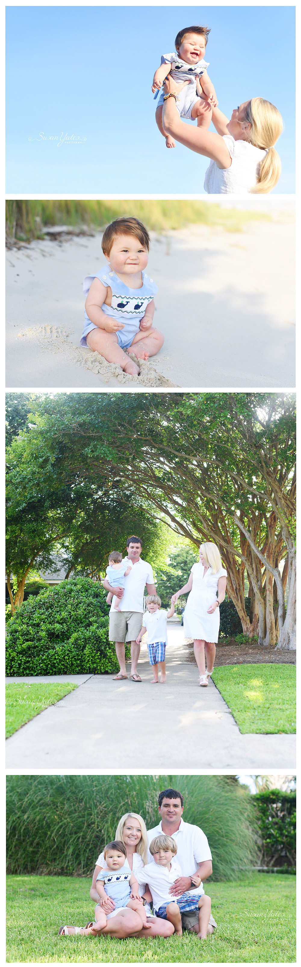 six month old baby session in Morehead City, NC Family photographer