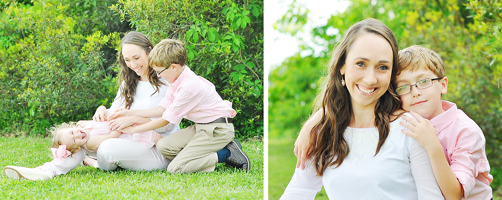 family photographer in morehead city, nc mom and children portraits
