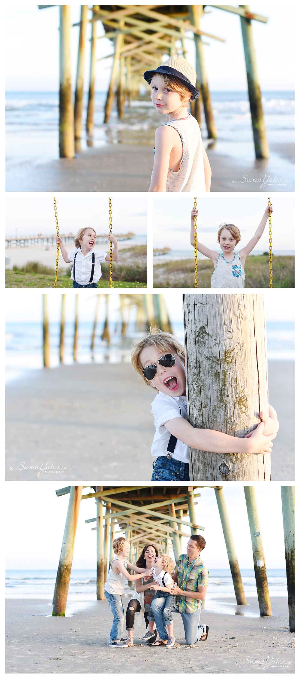 photo session at Oceanana Pier in Atlantic Beach, NC