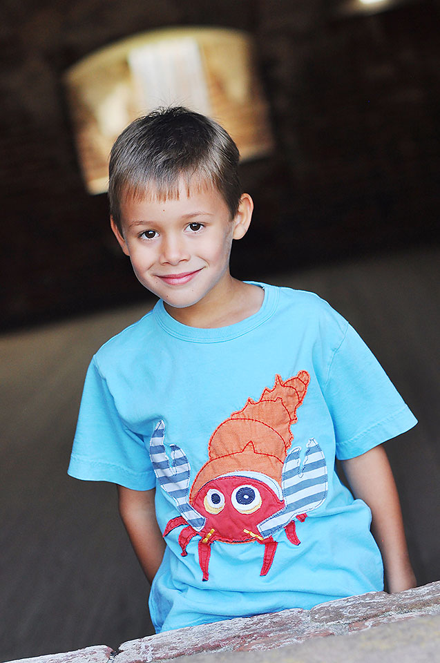 Children's portrait at Fort Macon