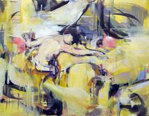 Chick Watercolor, oil on linen, 27x35cm, 2018