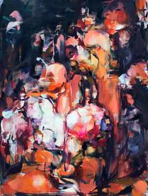 Drunken Blood, oil on canvas, 61x45.5cm, 2019