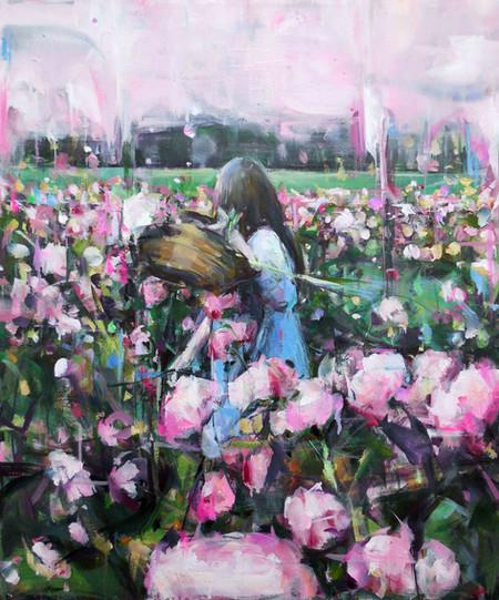 Pink Sky, oil on linen, 60x50cm, 2019