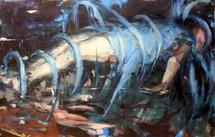 Blue Ribbon, oil on canvas, 91x130cm, 2018
