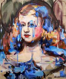 Elusive Blue, oil on linen over wood panel,53x45cm, 2018