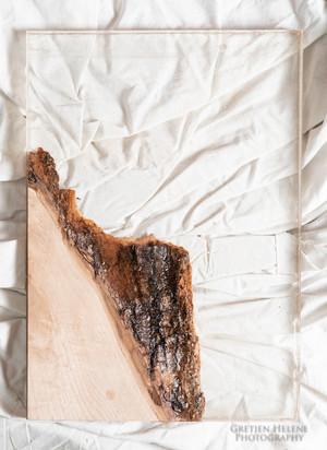 Raw Edge Wood and Acrylic Panel Sample