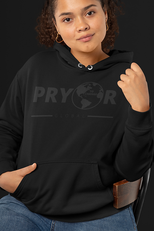 PRYOR TO CHANGE BLACK ON BLACK HOODIE
