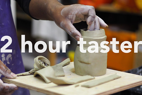 2 hour Pottery Taster Class - Contact us