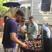 Jon grilling for friends on his giant grill :)