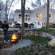 we love sitting around the firepit