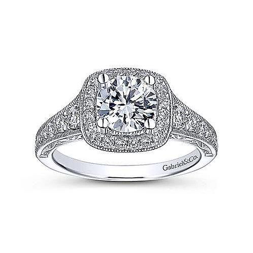 Halo Vintage Diamond Ring