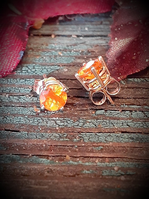 yellow fire opal earrings