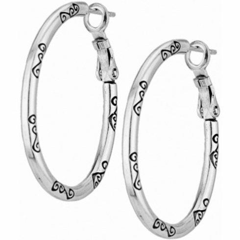 Oval Hoop Charm Earrings