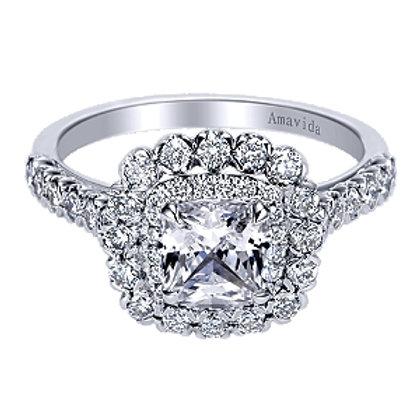 Rumi Cushion Cut Diamond Ring
