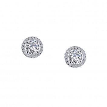 Round Stud Multi Stone Earrings