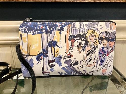 Fashionista Leather Ziptop Bag