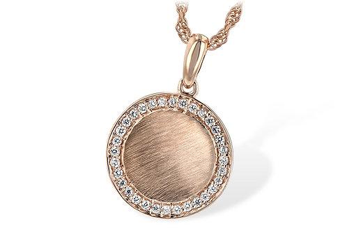 Rose Gold & Diamond Disk Necklace