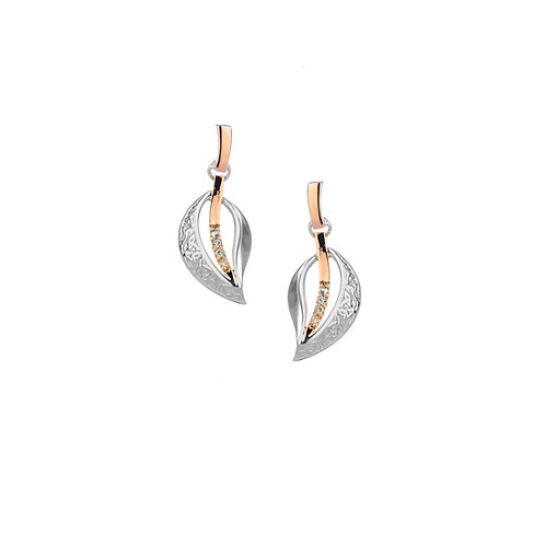 trinity leaf earrings