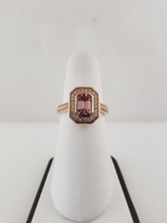 Lotus Garnet Ring