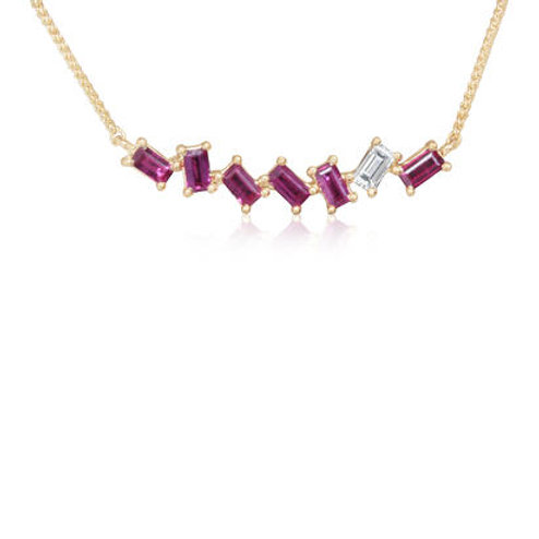 Madagascar Ruby Diamond Necklace