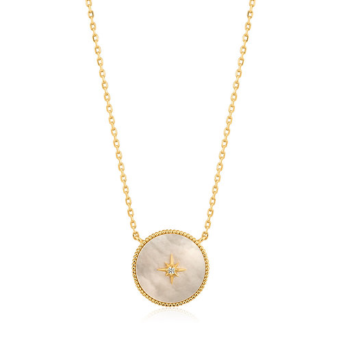 Mother Of Pearl Emblem Necklace