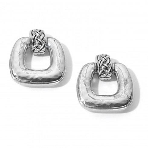 Interlock Woven Post Drop Earrings