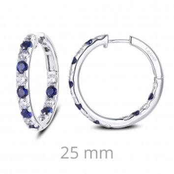 Inside Out Sapphire Hoop Earrings