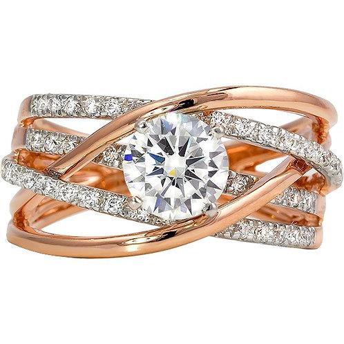 Rose Gold White Gold Ring