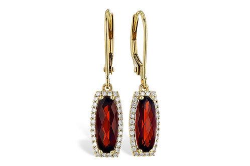 Diamond Garnet Earrings