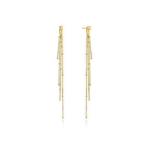 Tassel Drop Stud Earrings