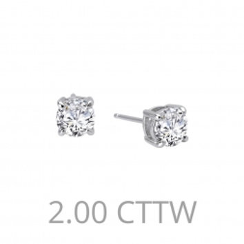 2 CTTW Diamond Stud Earrings