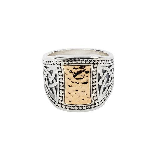 Hammered Signet Ring