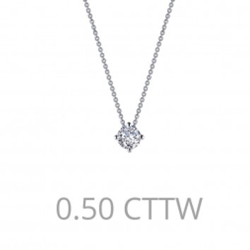 Solitaire Round Necklace