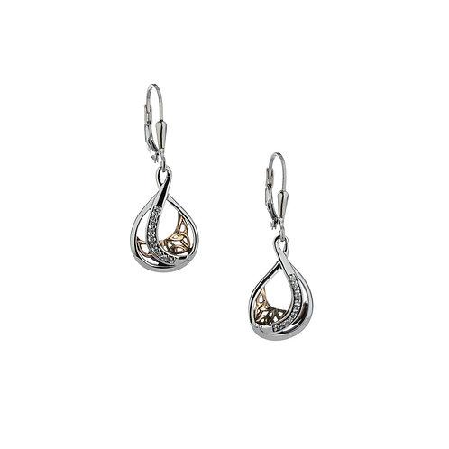 Trinity Teardrop Earrings
