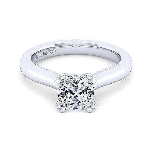 Lauren Solitaire Cushion Cut Ring