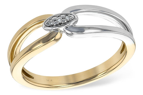 Mixed Metal Diamond Ring