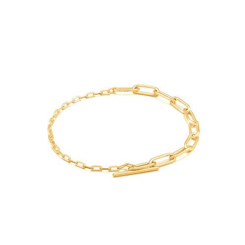 Mixed Link T Bar Bracelet