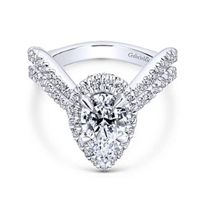 Madeliene Pear Diamond Ring